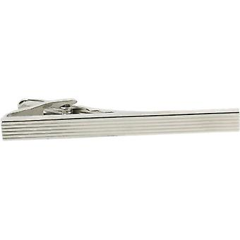 David Van Hagen Brushed Grill Tie Bar - Silver