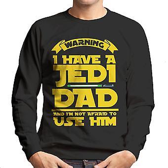 Star Wars varoitus olen Jedi isä miesten svetaripaita