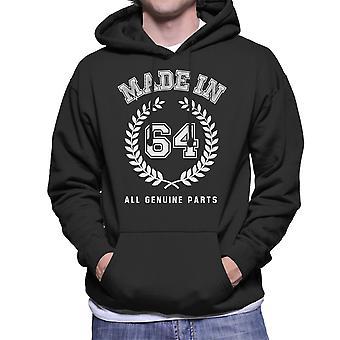 Gemaakt In 64 alle originele onderdelen mannen Hooded Sweatshirt