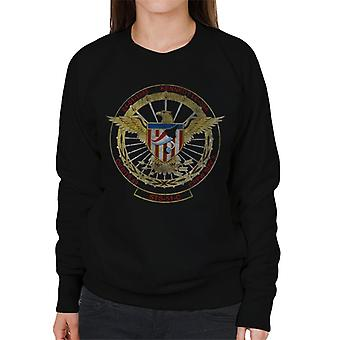 NASA STS 51 C Discovery Mission Badge Distressed Women's Sweatshirt