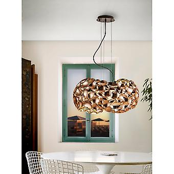Schuller Narisa Designer Unusual Pendant Light Of Modern Gold, 5 Bulb, 47cm