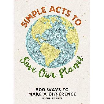 Yksinkertaiset toimenpiteet maapallomme pelastamiseksi