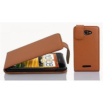 Cadorabo gevaldekking voor HTC Butterfly gevaldekking-telefoon geval in flip design in getextureerde faux leder-Case cover geval geval geval boek vouwen stijl
