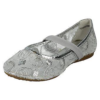 Girls Spot On Flat Ballerina Shoes