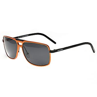 Breed Retrograde Aluminium Polarized Sunglasses - Orange/Black