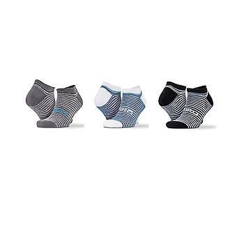 Spiro Unisex vuxna blandade Stripe tränare strumpor (förpackning med 3)