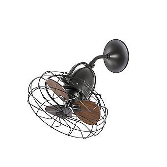 Faro - Keiki petit brun au plafond / mur ventilateur sans lumière FARO33715
