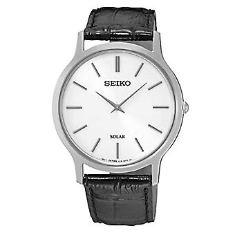 Seiko Solar Ladies Analogue Watch with leather strap SUP873P1