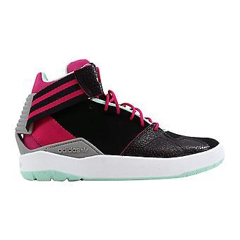 Adidas Crestwood Mid J Black/Pink-Green B27681 Grade-School