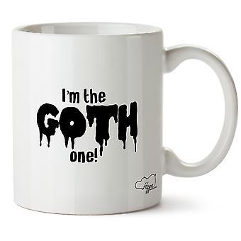 Hippowarehouse jeg Goth en! Utskrevne krus Cup keramiske 10 Unzen