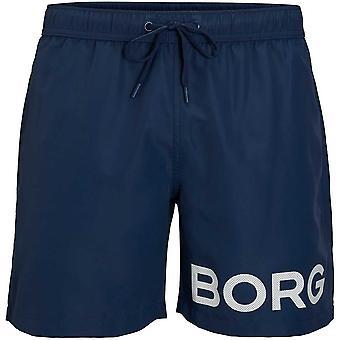 Bjorn Borg BORG Logo Swim Shorts, Insignia Blue