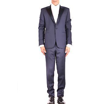 Brian Dales Ezbc126020 Men's Blue Wool Suit