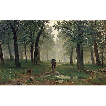 Rain in an Oak Forest, Ivan Shishkin, 60x37cm