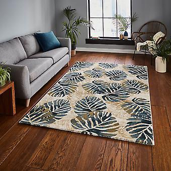Tropiki dywany 6097 w kremowo -niebieski