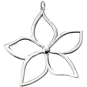 Beginnings Large Flower Pendant - Silver