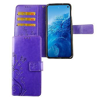 Samsung Galaxy S10e mobile case bag cover Flip case compartment violet