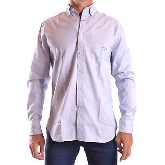 Gant Ezbc144053 Uomo's Camicia di cotone azzurro