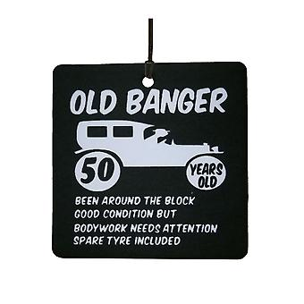 Old Banger 50th Birthday Car Air Freshener