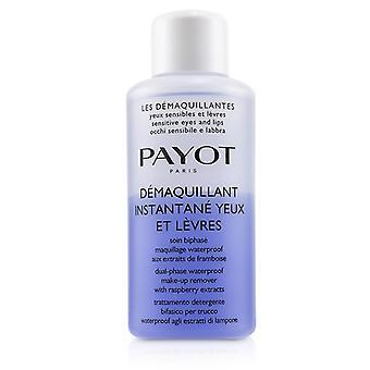 Payot Les Demaquillantes Demaquillant Instantane Yeux Dual-phase Waterproof Make-up Remover - Para ojos sensibles (tamaño de salón) - 200ml/6.7oz