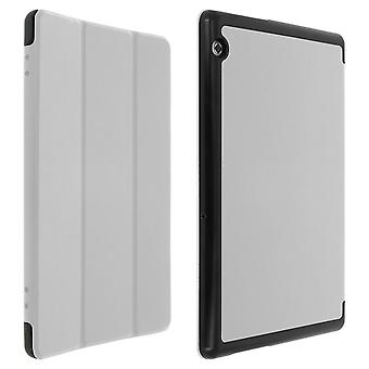 Housse Huawei Mediapad T5 10.0 Etui Clapet Folio Support Video/Clavier Blanc