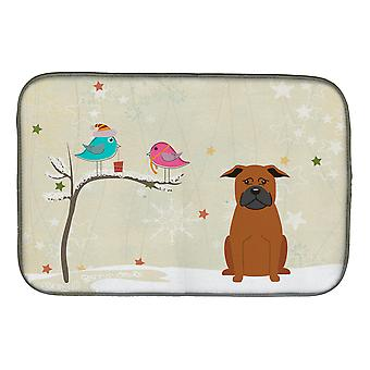 Christmas Presents between Friends Chinese Chongqing Dog Dish Drying Mat
