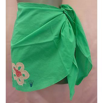 Triumf Miss Samoa Pareo zelený sarongs styl Krátká sukně jedna velikost