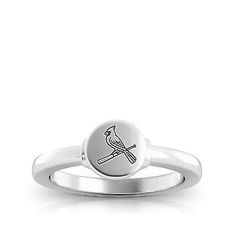St Louis Cardinals Logo Engraved Sterling Silver Signet Ring