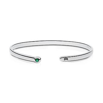 Ohio University Engraved Sterling Silver Emerald Cuff Bracelet