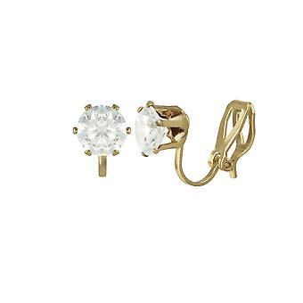 Eternal Collection Tara kirkas kristalli kulta sävy Stud Clip korva korut