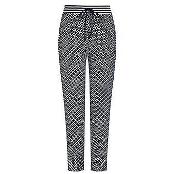 Mey 16961-408 Kvinder's Night2Day Isi Night Blue Geometric Print Bomuld Pyjamas Pant