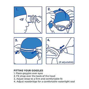 Zoggs óculos de natação Endura w/anti-fog lentes em Clear/azul/prata-um tamanho