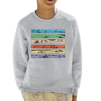 Krazy Kat Colour Strip Art Kid's Sweatshirt