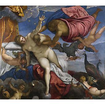 天の川の起源、ヤコポ・ティントレット、50x45cm