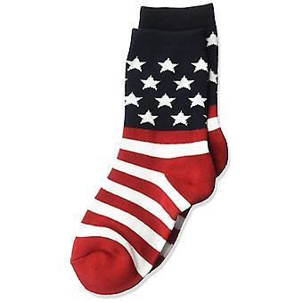 الأطفال ' s الجوارب الطاقم-K بيل-العلم الأمريكي R/W/B (7-8.5)