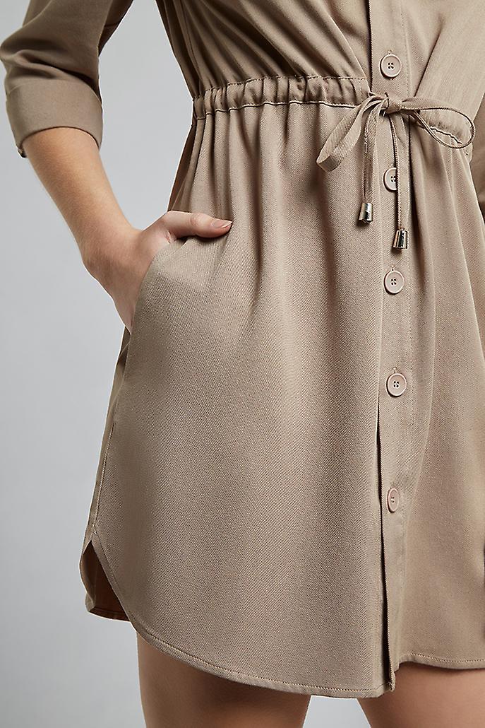 Louche Taner Utility Shirt Dress Grey