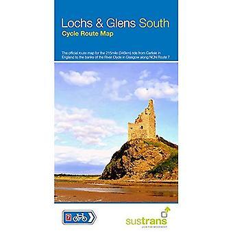 Lochs und Glens Süd: die offizielle Route Map für die 215 Meile fahren von Carlisle zu den Ufern des Clyde in Glasgow. (Sustrans Radkarten)