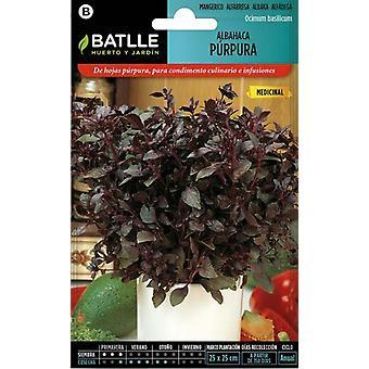 Batlle Basil Purple (Garden , Gardening , Seeds)