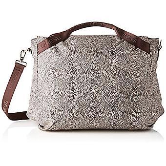 Borbonese Large Hand Bag C/t Women's Strap (Classic Op/Brown) 38x30x17 cm (W x H x L)