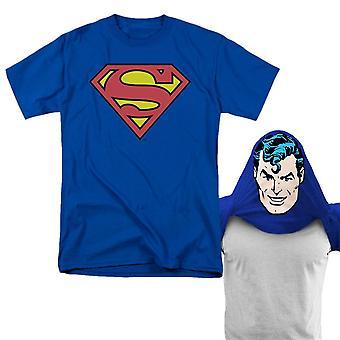 Superman vändbar mask män ' s T-shirt
