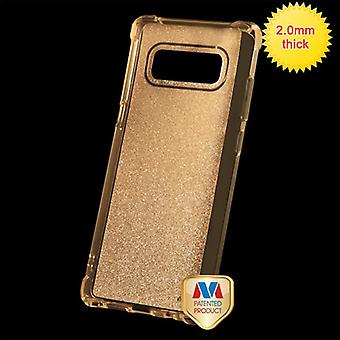 MYBAT Transparent Gold Sheer Glitter Premium Candy Skin Cover pour Galaxy Note 8