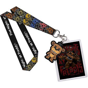 Päť nocí v Freddy ' s Freddy US Lanyard s Backer Card