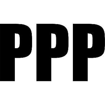 Set 3X Sticker Sticker Door Car Motorcycle Alphabet Box Letter Name Black P