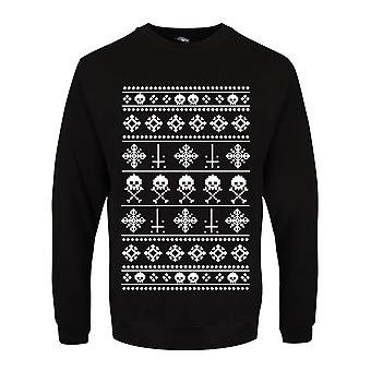 Grindstore Mens Anti Christmas Pattern Sweater