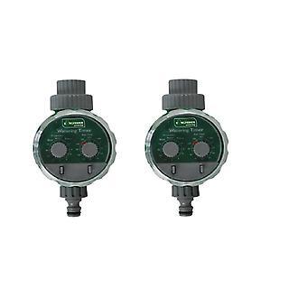 2 x Kingfisher automatische elektronische Wassergarten Schlauch Bewässerung Timer