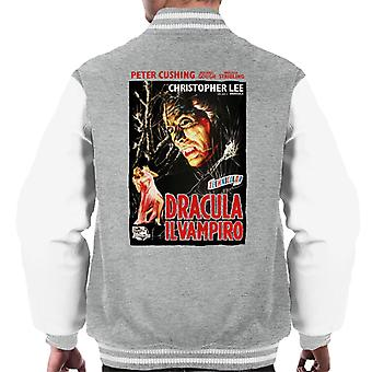Hammer Horror Films Dracula Italian Movie Poster Men's Varsity Jacket