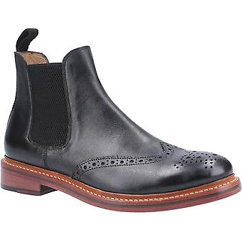 Cotswold Mens Siddington Leather Goodyear Welt Boot Black