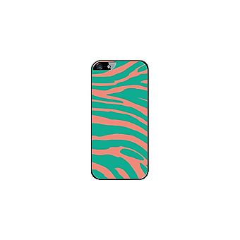 Hull Made In France Zebra Green And Orange For Apple IPhone 5