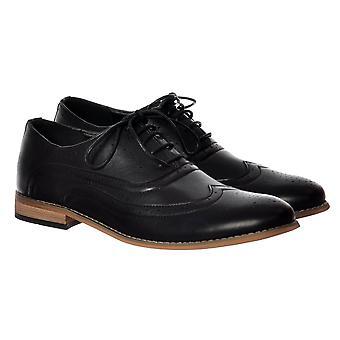 Onlineshoe hombres Irwell Smart Brogue zapato cuero look