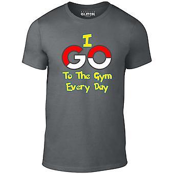 Mannen ' s ik ga naar de sportschool elke dag t-shirt-geïnspireerd ontwerp