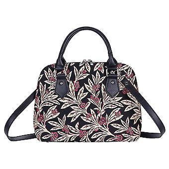 Golden fern top-handle shoulder bag by signare tapestry / conv-gfern